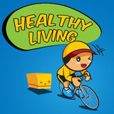 Fahrrad und Healthy-01 Lizenzfreies Stockfoto