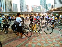 Fahrrad, zum des Tages zu bearbeiten Lizenzfreie Stockbilder