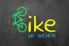 Fahrrad zum zu arbeiten Stockbilder
