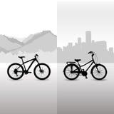 Fahrrad zwei Stockbild