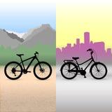 Fahrrad zwei Stockfotos