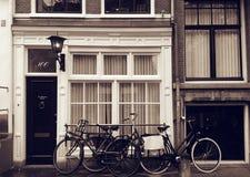 Fahrradaußenseitenshop, Amsterdam Stockbilder