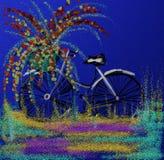 Fahrradblütentag stockfotos
