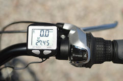 Fahrradcomputer Stockbild