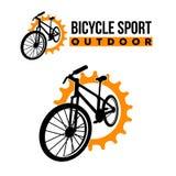 Fahrrademblem-Logoschablone Stockbild