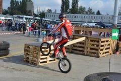 Fahrradfähigkeitsdemonstration 21 Stockfoto
