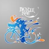 Fahrradfahrfrisches Spritzen Stockbild
