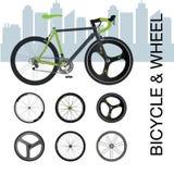 Fahrradfelge-Radsatz Stockfotografie