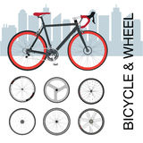 Fahrradfelge-Radsatz Stockfotos