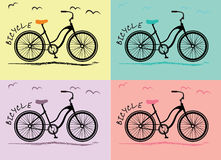 Fahrradfrauen Stockfotografie