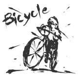 Fahrradgeschwindigkeitstinten-Bürstenart Stock Abbildung