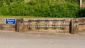 Fahrradhalter in Llanddulas, Clwyd, Wales, Großbritannien stockfoto