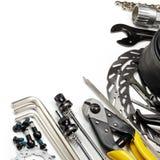Fahrradhilfsmittel und -reserven lizenzfreies stockfoto