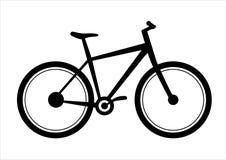 Fahrradikone Illustration mit einem Fahrradsymbol Stockfoto