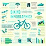Fahrradikonen infographic lizenzfreie abbildung