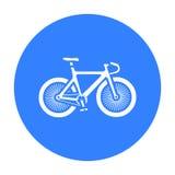Fahrradikonenschwarzes Einzelne Sportikone von der großen Eignung, gesund, Trainingsschwarzes vektor abbildung