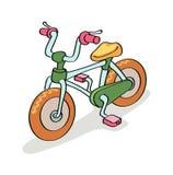 Fahrradkarikatur Stockfotos