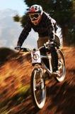 Fahrradkonkurrenz des Herbstes extreme Gebirgs Lizenzfreies Stockbild