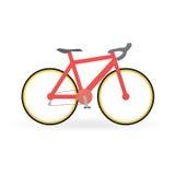 Fahrradkonzept durch Mountainbike ist rote Farbe Stockbilder
