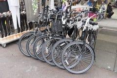 Fahrradladen Albert Cuypstrat Amstedam Stockfotografie