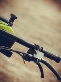Fahrradlenkrad mit Bremse lizenzfreies stockbild