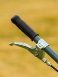 Fahrradlenkrad mit Bremse stockfotografie