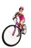 Fahrradmädchen Lizenzfreies Stockbild