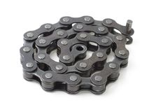 Fahrradmetalllinkkette Lizenzfreie Stockfotografie