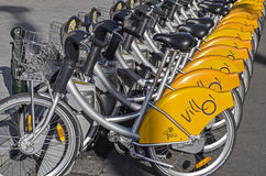 Fahrradmiete in Brüssel Stockfotos