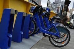 Fahrradmietstation Stockbilder