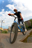Fahrradmitfahrer Stockfoto
