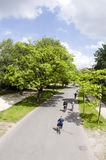 Fahrradmitfahrer vondel Park Amsterdam Stockfoto