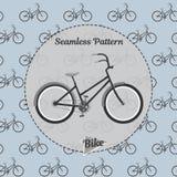Fahrradmuster Einfache Illustration des Fahrrades für Netz und Druck Lizenzfreie Stockbilder