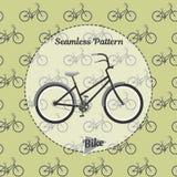 Fahrradmuster Einfache Illustration des Fahrrades für Netz und Druck Stockbilder