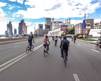Fahrradparade Lizenzfreie Stockfotografie