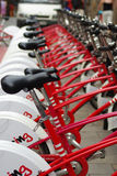 Fahrradparken lizenzfreies stockbild