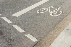 Fahrradpfad Stockfoto
