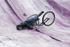 Fahrradpullover fallen unten Lizenzfreie Stockfotos
