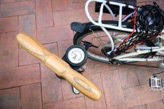 Fahrradpumpe Lizenzfreies Stockbild