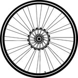 Fahrradrad getrennt auf Weiß Lizenzfreies Stockbild