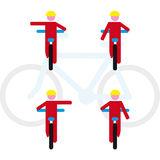 Fahrradregeln Stockfoto