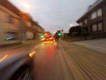 Fahrradreise am Morgen Stockfotos