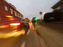 Fahrradreise am Morgen Stockfotografie