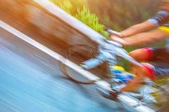 Fahrradreise nach Italien Stockfoto