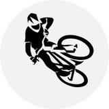 Fahrradrennläuferextrem Lizenzfreie Stockbilder
