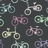Fahrradsammlung auf nahtlosem Hintergrund Lizenzfreie Stockfotos