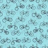 Fahrradsammlung auf nahtlosem Hintergrund Lizenzfreie Stockbilder