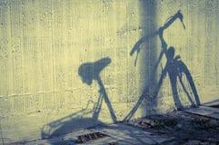 Fahrradschatten Stockfoto