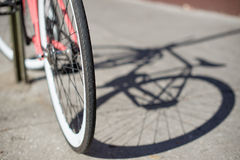 Fahrradschatten Stockfotos