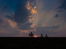Fahrradschattenbild Lizenzfreies Stockfoto